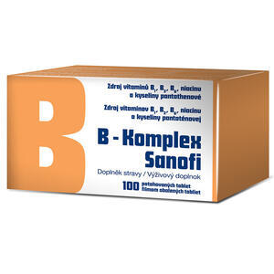 B-komplex Sanofi por.tbl.flm.100 Glass (Zentiva)