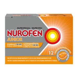 Nurofen Junior Pomeranč 12x100mg (žvýkací měkké tablety)