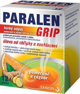 Paralen grip horký nápoj Pomeranč zázvor por.gra.sol.12