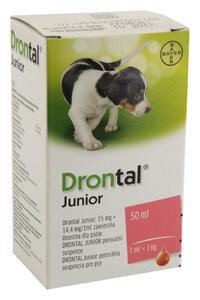 Drontal JUNIOR a.u.v.susp.50 ml+apl.
