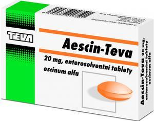 AESCIN-TEVA 20MG TBL ENT 90