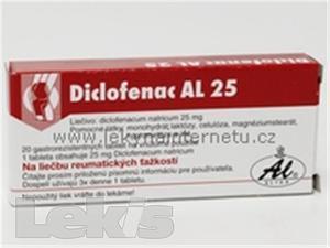 DICLOFENAC AL 25 mg tbl obd 20