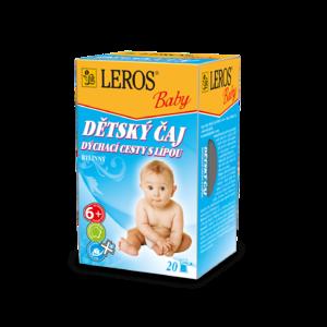 LEROS BABY Dětský čaj dýchací cesty s lípou n.s.20x2g