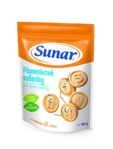Sunar dětské sušenky písmenkové 150g