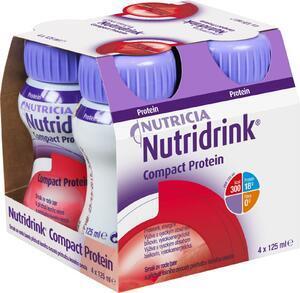 Nutridrink Compact Protein př. chladivého červeného ovoce 4x125ml