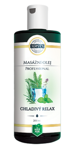 TOPVET Chladivý relax - masážní olej 200 ml