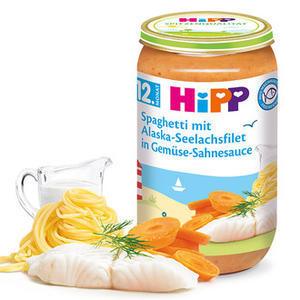 HiPP MENU Špagety s mořskou rybou a zeleninou 6x250g