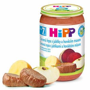 HiPP JUNIOR BIO Červená řepa s jablky a hovězím masem 6x220g