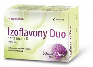 Izoflavony Duo s vitamínem D cps.50+10 navíc (Noventis)