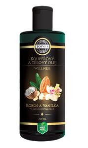 TOPVET Kokos a vanilka v mandlovém oleji 200 ml